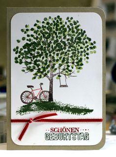 """Geburtstagskarte mit dem Stempelset """"Baum der Freundschaft"""". Zuerst gebloggt auf Leben am Rande der Zivilisation."""