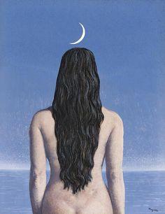 René Magritte (Belgian, La robe du soir [Evening dress], Gouache on paper, 44 x cm. Rene Magritte, Conceptual Art, Surreal Art, Tamara Lempicka, Magritte Paintings, Classic Artwork, Max Ernst, Vogue Us, Art Moderne