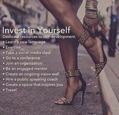 Invest in yourself. Business rules for women. Self Development, Personal Development, Professional Development, 5am Club, Cyber Monday Specials, Thing 1, Learn A New Language, Brian Atwood, Self Improvement Tips
