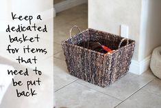 "A great ""stuff"" basket via Babble.com"