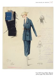 The House of Worth: Fashion Sketches, 1916-1918 Dover Publications