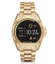 Michael Kors Smart Watch in gold and this is going on my Wish List! Retails for $350.