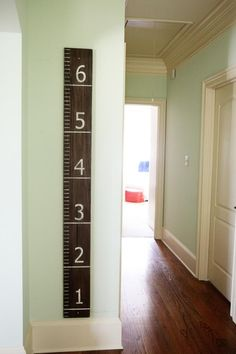 DIY Growth Chart - follow these directions