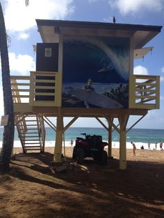 9bd1d8f18cbc  Beach Lifeguard tower  Maui  Hawaii
