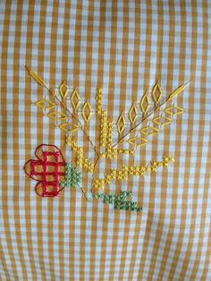 ₩₩₩ Embroidery Stitches, Hand Embroidery, Embroidery Designs, Chicken Scratch Embroidery, Hand Stitching, Gingham, Needlework, Free Pattern, Projects To Try
