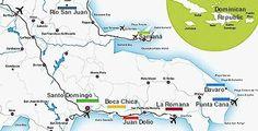 Juan Dolio Dominican Republic map