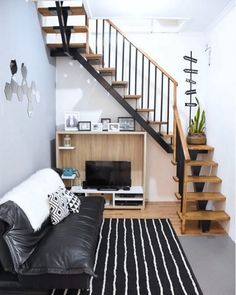 Trendy Ideas For House Modern Simple Floor Plans Simple Floor Plans, Modern Floor Plans, Interior Staircase, Exterior Stairs, Stairs Architecture, Modern Architecture, Diy Exterior, Stair Decor, Dream Furniture