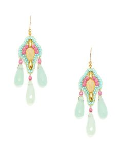 Miguel Ases  Multicolor Drop Earrings