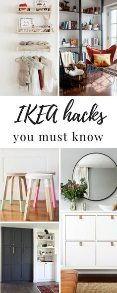 You have to see these amazing IKEA hacks. Here are 7 IKEA hacks you should know. These will inspire you, save you money and give you ideas next time you're at IKEA! #homedecor #homedecorideas #ikea #ikeahack #diyproject #diyhomedecor