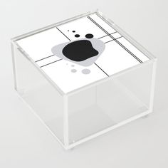 Lines and Curves -Black & White - Set 1 Acrylic Box by laec Good Advice For Life, Storage Places, Acrylic Box, Toy Chest, Curves, Black And White, Store, Artwork, Fun