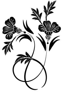 flower pattern for printing,  λουλουδι σκιτσο για εκτυπωση, decorative Tribal Tattoos, Stencil, Vectors, Prints, Flowers, Home Decor, Homemade Home Decor, Royal Icing Flowers, Flower