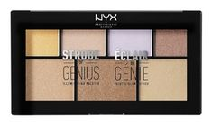 Introducing the Strobe of Genius palette, NYX Professional Makeup's incredible new collection of must have illuminators designed to give you everything needed to achieve today's most buzzed about highlighting trend: strobing. Strobing, Eyeshadow Makeup, Face Makeup, Beauty Hacks Skincare, Beauty Products, Makeup Products, Beauty Secrets, Makeup Tips, Hair