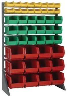 Single Sided Rail Unit 36 x 15 x 53, 48 GREEN QUS230 Bins 11 x 6 by Quantum. $564.69. . Availible in four different configurations. May be Mounted on any Suitiable surface for example walls , benches, inside service trucks, and on carts. Fasten Securely to assure proper load bearing. Gray Baked Enamel Finish to ensure durability and Heavy Duty Use1 Single Sided Rail Unit Package with 48 Green Bins Availible in four different configurations. May be Mounted on any Suitiable surfac...