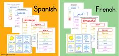 Free DIY Children's Calendar printables available in English, Spanish and French! This calendar is a great learning tool to use with children daily and a fun way to learn about the weather, days of the week and plan out your day! Calendar Board, Calendar Time, 2021 Calendar, Calendar Pages, Toddler Calendar, Kids Calendar, Calendar Ideas, Learning Tools, Fun Learning