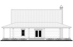 This beautiful two story country house plan design features wrap-around porches and open concept living spaces. Browse our house plans today!