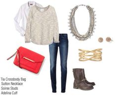 casual look + statement necklace = instant style  #stelladotstyle #ootd