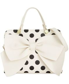 Betsey Johnson Macy's Exclusive Bow Regard Satchel | macys.com