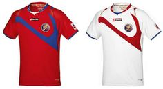 Costa Rica's T shirts for 2014 FIFA World Cup - Brazil