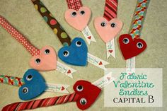 Cute Filled Fabric Valentine Snakes... simple sewing- can fill with all sorts of things :)