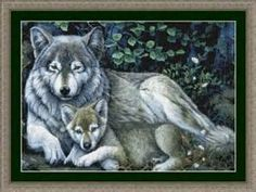 pinterest cross stitch wolves free - Bing Images