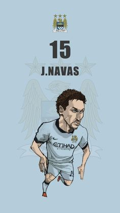 "Manchester city fan art for mobile wallpaper ""Jesus Navas"""