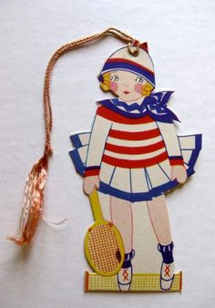 Vintage Bridge Tally Tennis Player | eBay