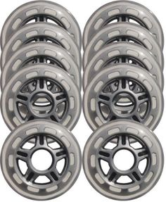 Clear / Silver Inline Skate Wheels 80mm 78a 10-Pack by Unknown. $14.99. Urethane Color - Clear Hub Color - Silver Diameter - 80mm Hardness - 78a Use - Indoor/Outdoor QTY - 10