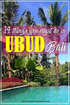 14 things to see and do in Ubud, Bali | indonesia | ubud | bali | tegallalang | what to see in ubud | what to do in ubud| things to see in ubud | things to do in ubud | monkey forest | tengenungan waterfall | eat pray love | bali island | ubud bali