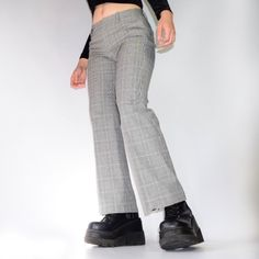 a9e4f020f9a63 the cutest plaid pants ive ever owned! black & white with 🤤 - Depop Plaid