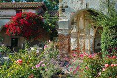 Mission Courtyard - San Juan Capistrano Mission, CA