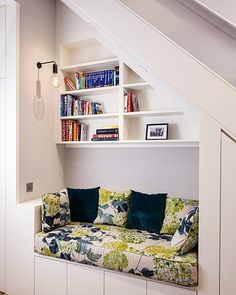 Living room under stairs under stairs ideas contemporary hallway landing by wicks photography ltd stairs design . Staircase Storage, Stair Storage, Book Storage, Hidden Storage, Storage Ideas, Secret Storage, Hallway Storage, Modern Basement, Basement Bedrooms