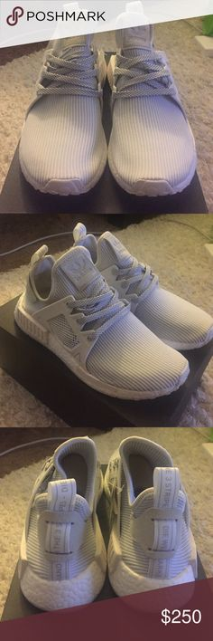 d29a6ac98ee22 Adidas NMD XR1 NWT Adidas NMD XR1 light grey and white. Reflective laces.  Rubbing