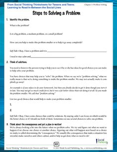 Socialthinking - Social Thinking Thinksheets for Tweens and Teens: Learning to Read In-Between the Social Lines Coping Skills Activities, Activities For Teens, Counseling Activities, Cognitive Behavior, Social Behavior, High School Counseling, School Counselor, Social Emotional Learning, Social Skills