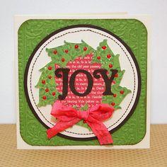 cards made with cricut joys of the season | JOY card made with the #Cricut