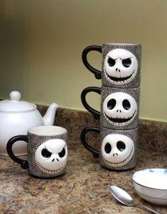 Jack Skellington Stackable Mugs.