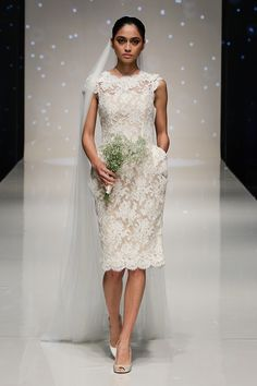 Vestidos de noiva de Elizabeth Stuart 2014. #casamento #vestidodenoiva #curto #renda