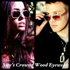 wood glasses by Sire's Crown