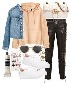 """""""Untitled #22260"""" by florencia95 ❤ liked on Polyvore featuring RVDK, H&M, Sonix, Gucci, Topshop, Issey Miyake, Bling Jewelry and Aesop"""