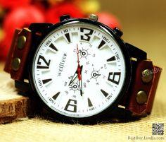 Men's watches Leather Wristwatches Sport wrist watch Vintage Wristwatch