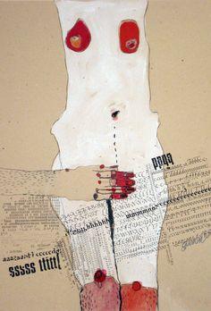 BODY 11/ Kasia Gawron/ Mixed Media, Paint///
