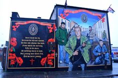 Belfast, Northern Ireland, U. Northern Ireland Troubles, Belfast, Wall Murals, Things To Think About, Places, Wallpaper Murals, Murals, Wall Prints, Mural Painting