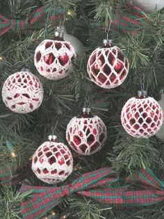 Crochet covered ornaments