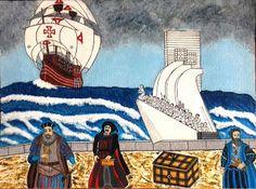 Os Meus Passatempos: Vasco da Gama, Infante D.Henrique e Pedro Álvares ... Acrylic painting.