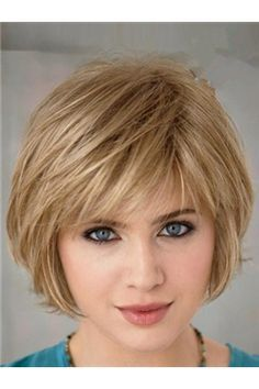 Cute short haircut, love the textured bangs. I wonder if I could actually recreate that with my own hair?
