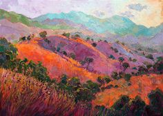 Paso Robles oil painting for sale by collectible artist Erin Hanson.
