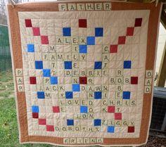 Dad's Scrabble Quilt