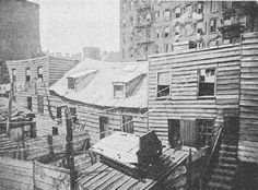 A row of houses in the Five Points neighborhood of Manhattan c.1879