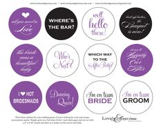 fun stickers for guests to grab for conversation starters