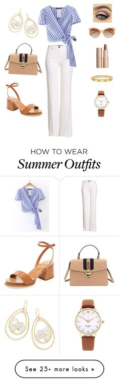 """""""Work outfit 1: Summer classic"""" by chirsh-1 on Polyvore featuring Tod's, Roberto Cavalli, Ippolita, Tory Burch, Kate Spade, Charlotte Tilbury, Gucci and Linda Farrow"""