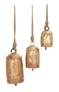 Rope Cow Bell Set by Woodland Imports. $24.70. Design is stylish and innovative. Satisfaction Ensured.. Manufactured to the Highest Quality Available.. Great Gift Idea.. 26719 Features: -Set of 3.-Material: Rust free premium grade metal alloy.-Melodious sound.-Rope and musical decor.-Light weight.-Can be also used as cow bell.